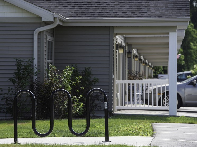 Bike Rack & Cottages
