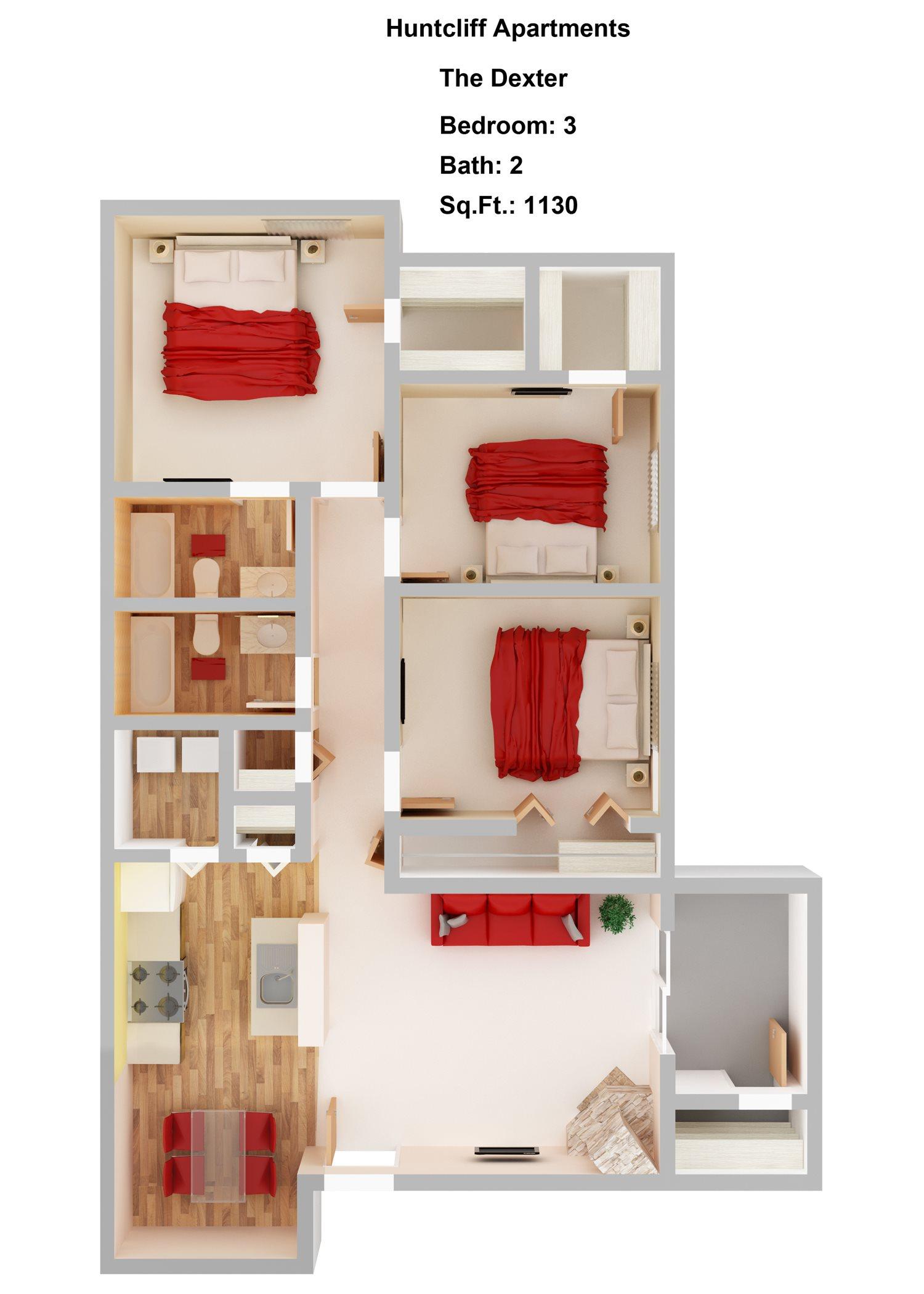 Dexter  3+2 Floor Plan 4