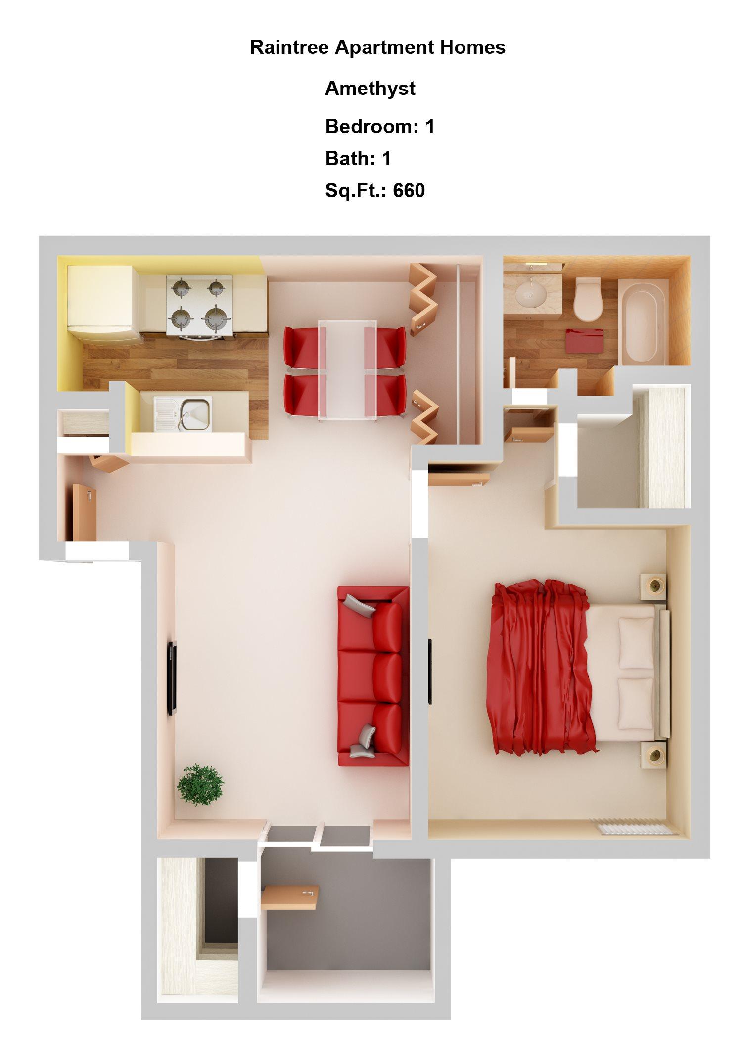 Amethyst Floor Plan 1
