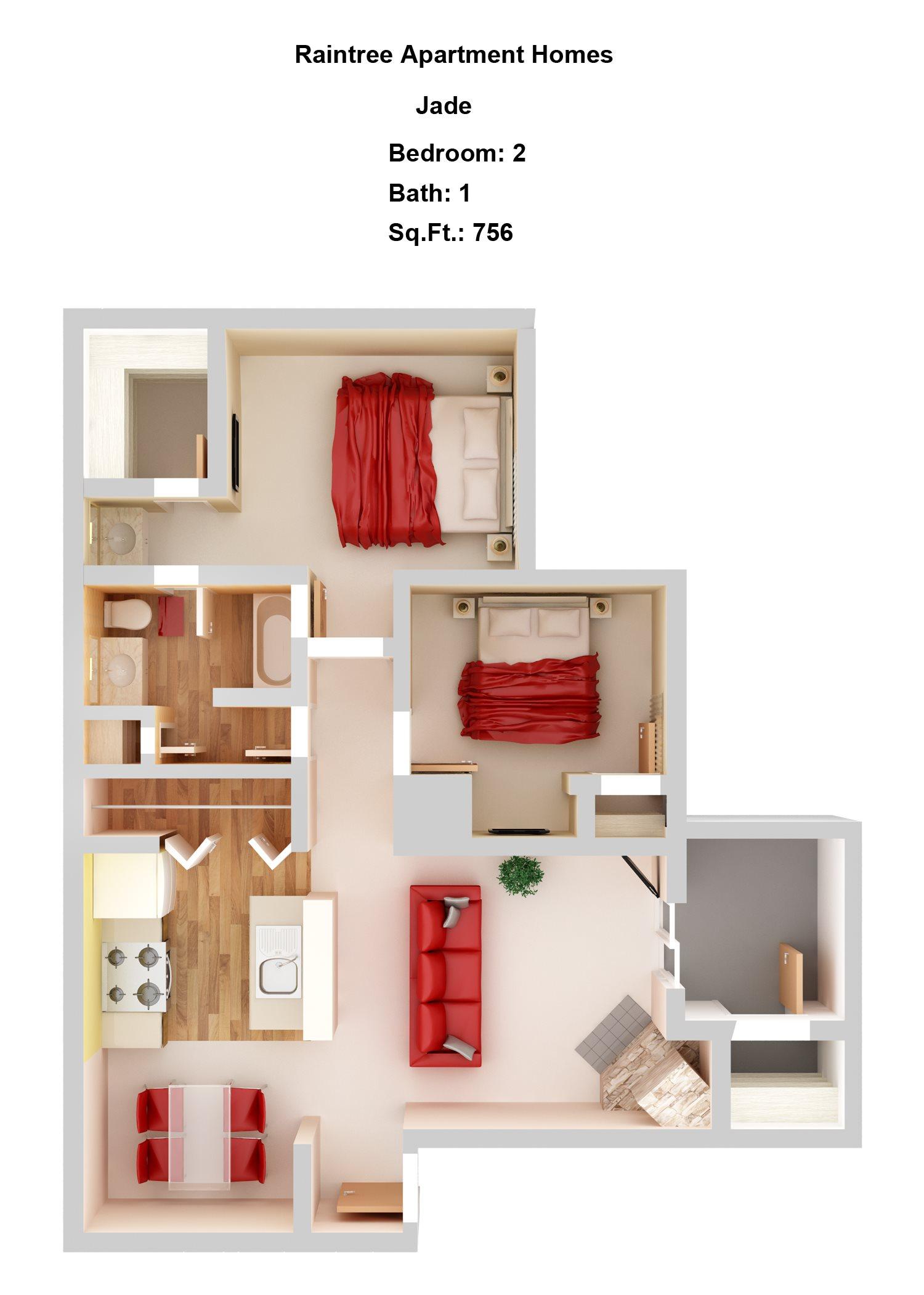 Jade  2+1 Floor Plan 3