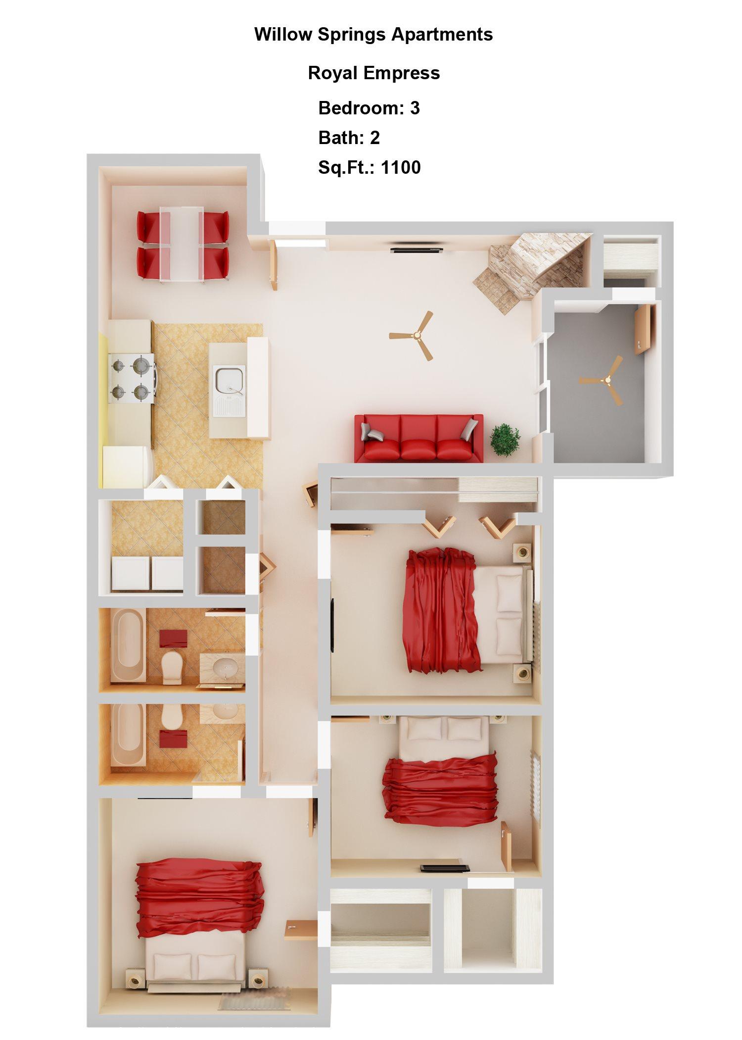 Royal Empress      3+2 Floor Plan 6