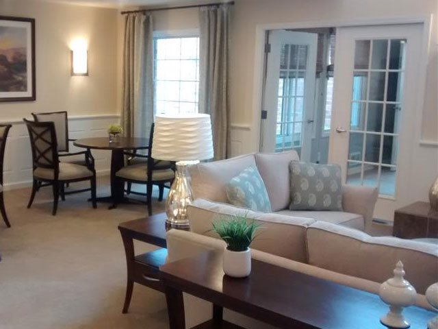 Living and Fireside Room at Brookfield Highlands Apartments 55+, Wisconsin 53186
