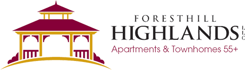Foresthill Highlands Apartments & Townhomes 55+ Logo, Franklin