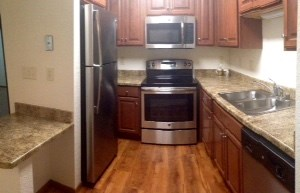 Newly remodeled kitchen at Ridgeview Highlands Apartments & Townhomes,640 Ridgeview Circle,Appleton,Wisconsin