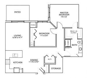C3 - Two Bedroom, One Bath*