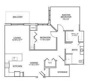 C4 - Two Bedroom, One Bath*