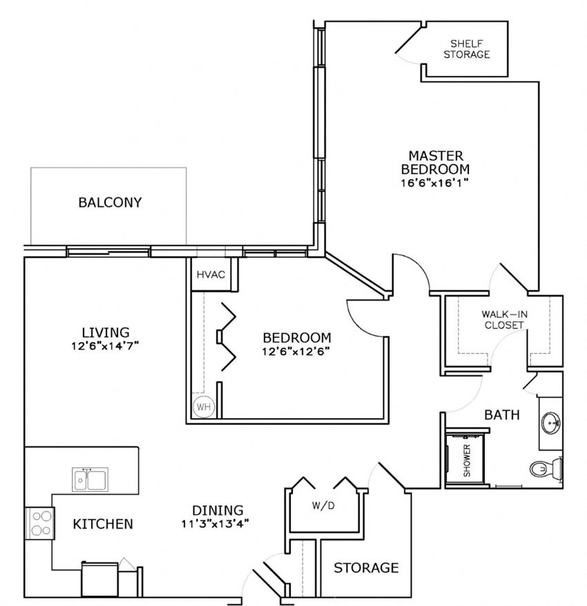C5 - Two Bedroom, One Bath*