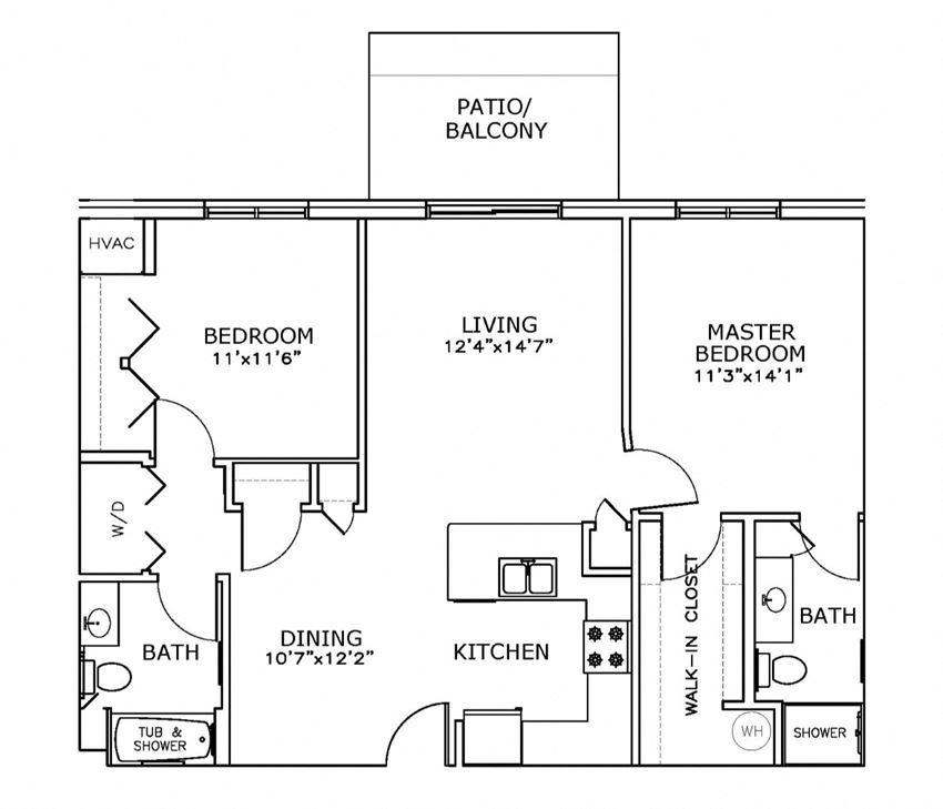 E2 - Two Bedroom, Two Bath