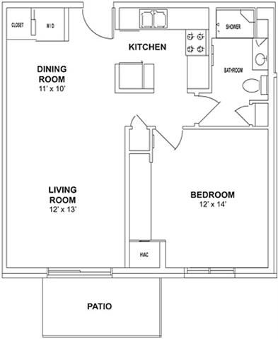 Floor plan at Birchwood Highlands Apartments, WI 54476