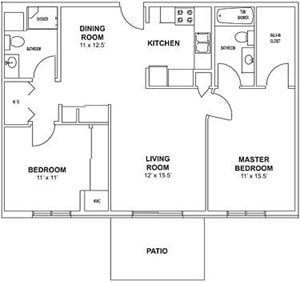 Floor plan at Birchwood Highlands Apartments, Weston, WI