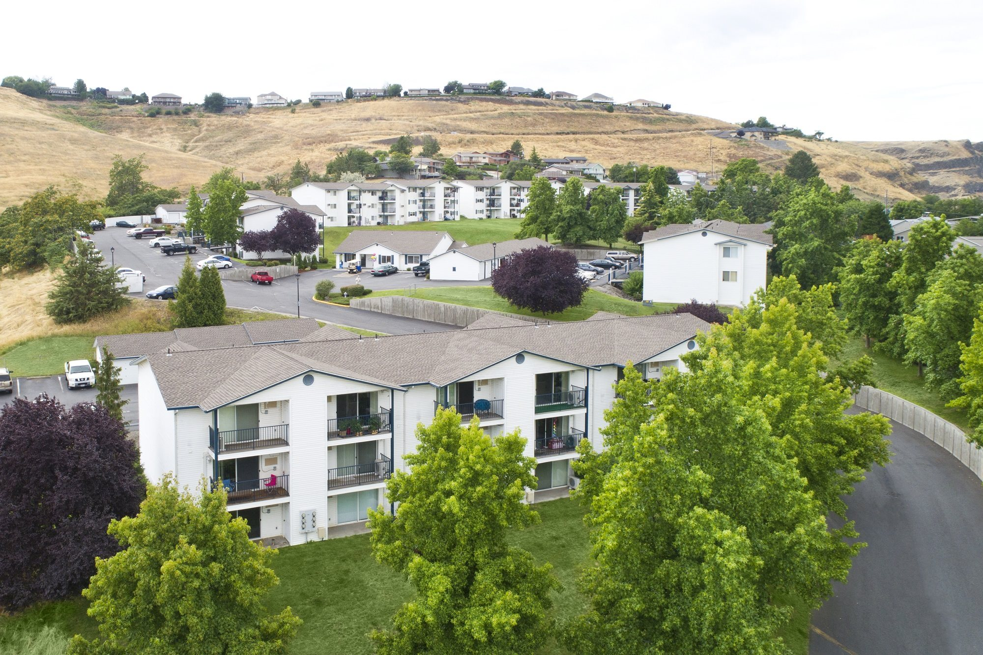 Westridge Apartments for rent in Clarkston, WA building exterior aerial view