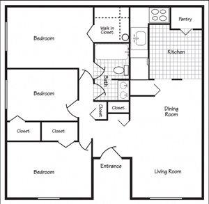 Richland, WA Maple Ridge 3 bedroom 1 bath