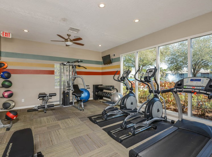 The Savannahs at James Landing Melbourne FL 32935 24-hour fitness center with weights and cardio