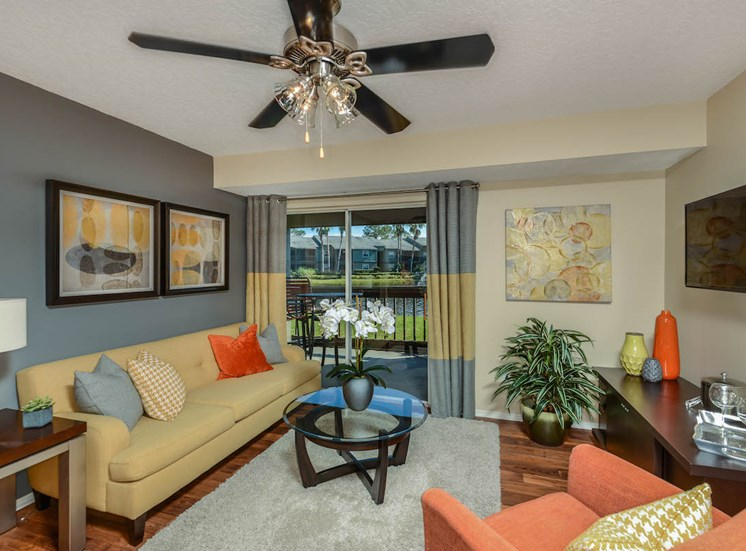 The Savannahs at James Landing Melbourne FL 32935 ceiling fans in living room