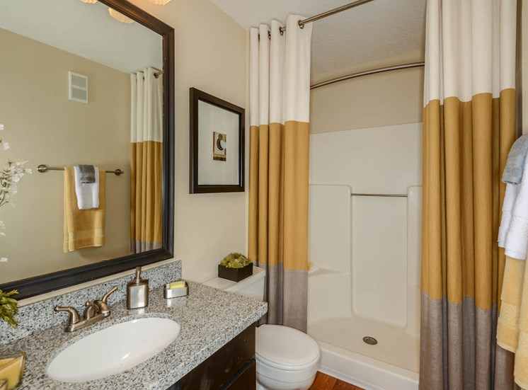 The Savannahs at James Landing Melbourne FL 32935 bathrooms with granite and tile surrounds