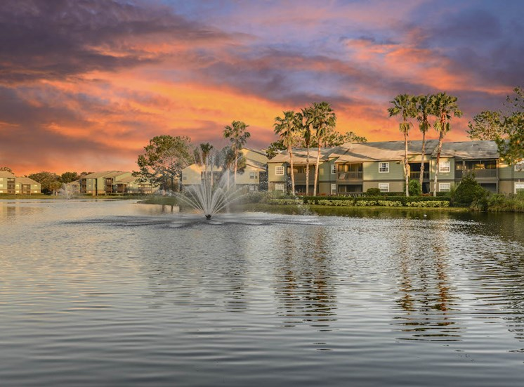 The Savannahs at James Landing Melbourne FL 32935 lake view sunsets