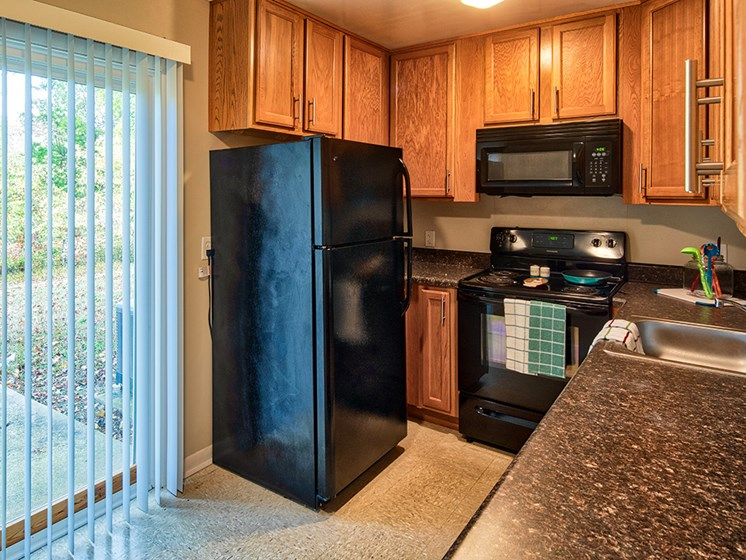 Affordable apartments kitchen in Hampton Va