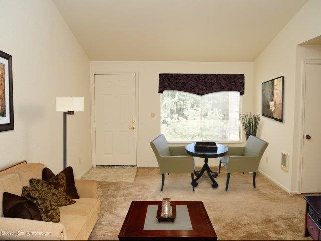 Darrins Place Apartments Model Aparment Living Room & Entry