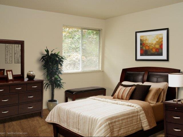 Darrins Place Apartments Model Apartment Bedroom