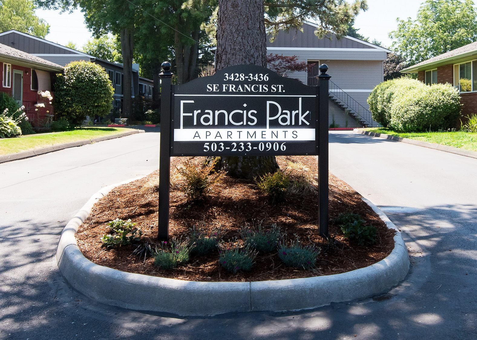 Francis Park Entry Monument Sign