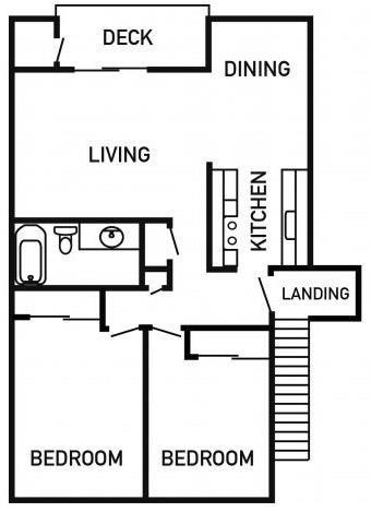 Francis Park Apartments 2x1 Floor Plan 926 Square Feet