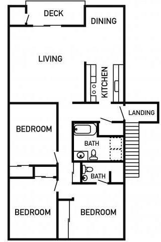 Francis Park Apartments 3x2 Floor Plan 1201 Square Feet