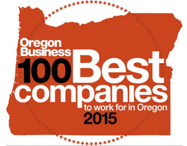 Oregon Business 100 Best Companies To Work For in Oregon 2015 Logo