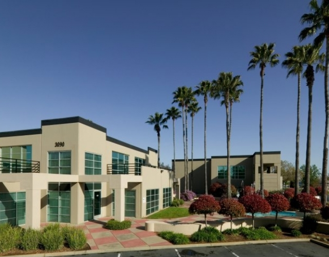 Sierra Business Center in Sacramento California Exterior Building and Landscaping