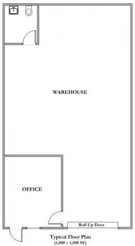 1000 Sq.Ft. Floor Plan 1