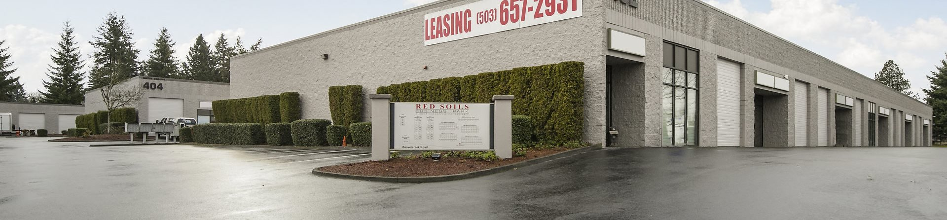 Red Soils Business Park Exterior Leasing Banner