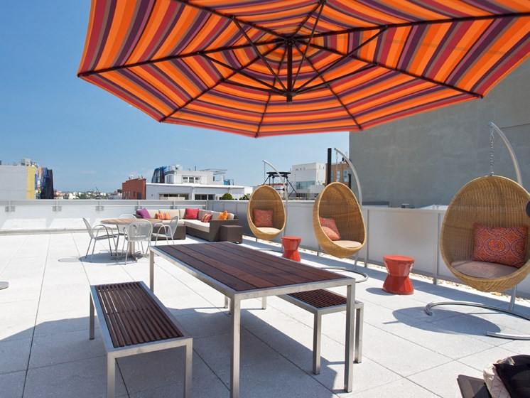 Rooftop Terrace And Gazebo at 34 Berry, Brooklyn, 11249