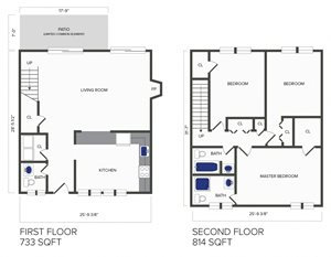 3 Bedroom, 2.5 Bath Duplex (D4)
