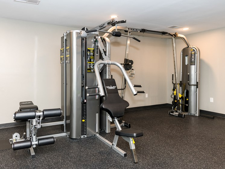 Fitness Center With Updated Equipment, at Heather Ridge Apartments, Bowie, MD 20716
