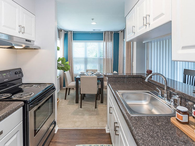 Fully Equipped Island Kitchen, at Heather Ridge Apartments, Bowie