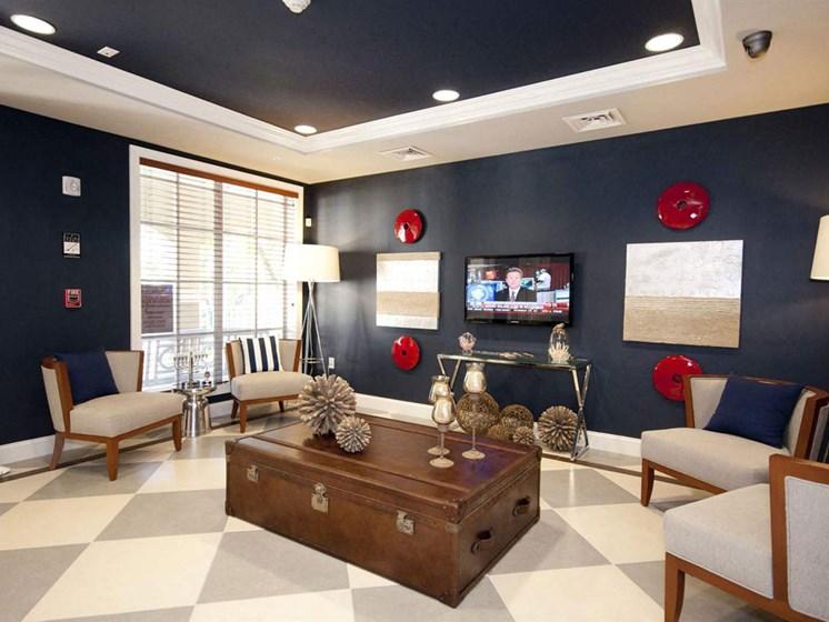 Living Room Tv at Lincoln Pointe, Aventura, FL, 33160