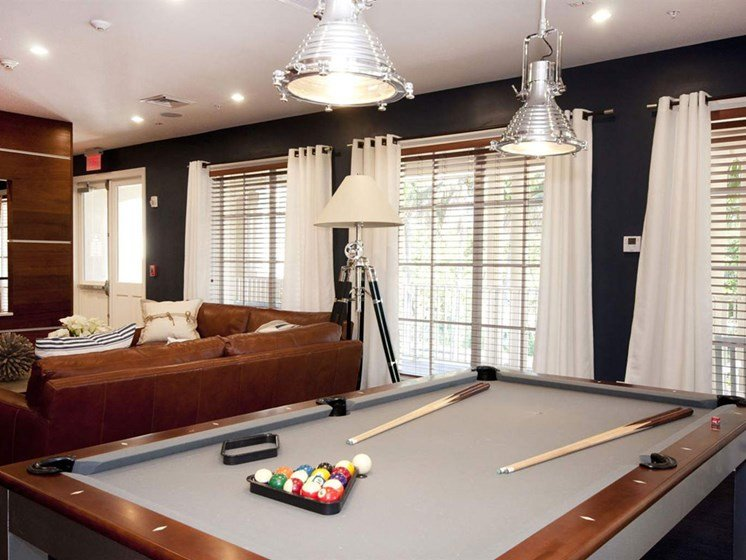 Game Room With Pool Table at Lincoln Pointe, Aventura, 33160