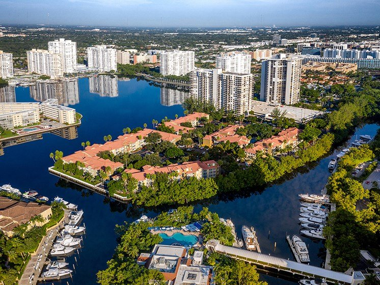LP Aerial View at Lincoln Pointe, Aventura, Florida
