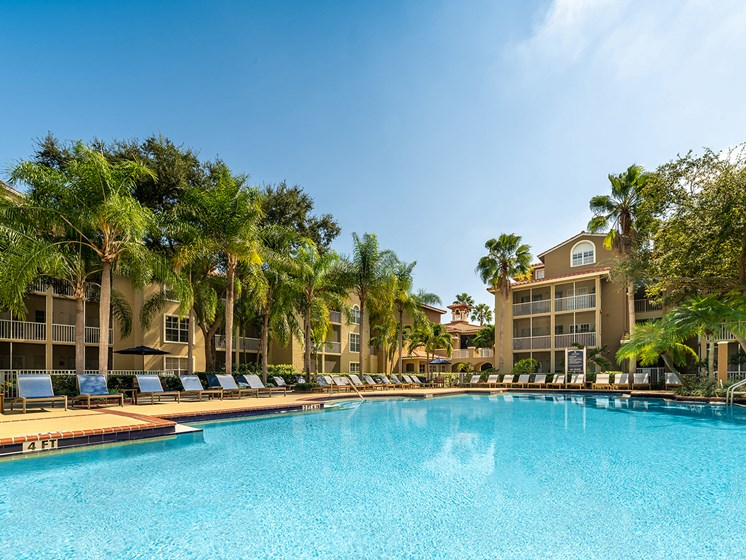 Front Pool View at Lincoln Pointe, Florida, 33160