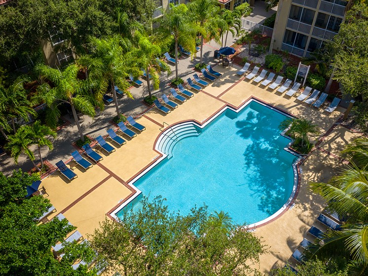 Pool Aerial View at Lincoln Pointe, Aventura, FL, 33160