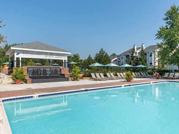 Private Swimming Pool with Wraparound Sundeck at Ravens Crest Apartments, Manassas, 20109