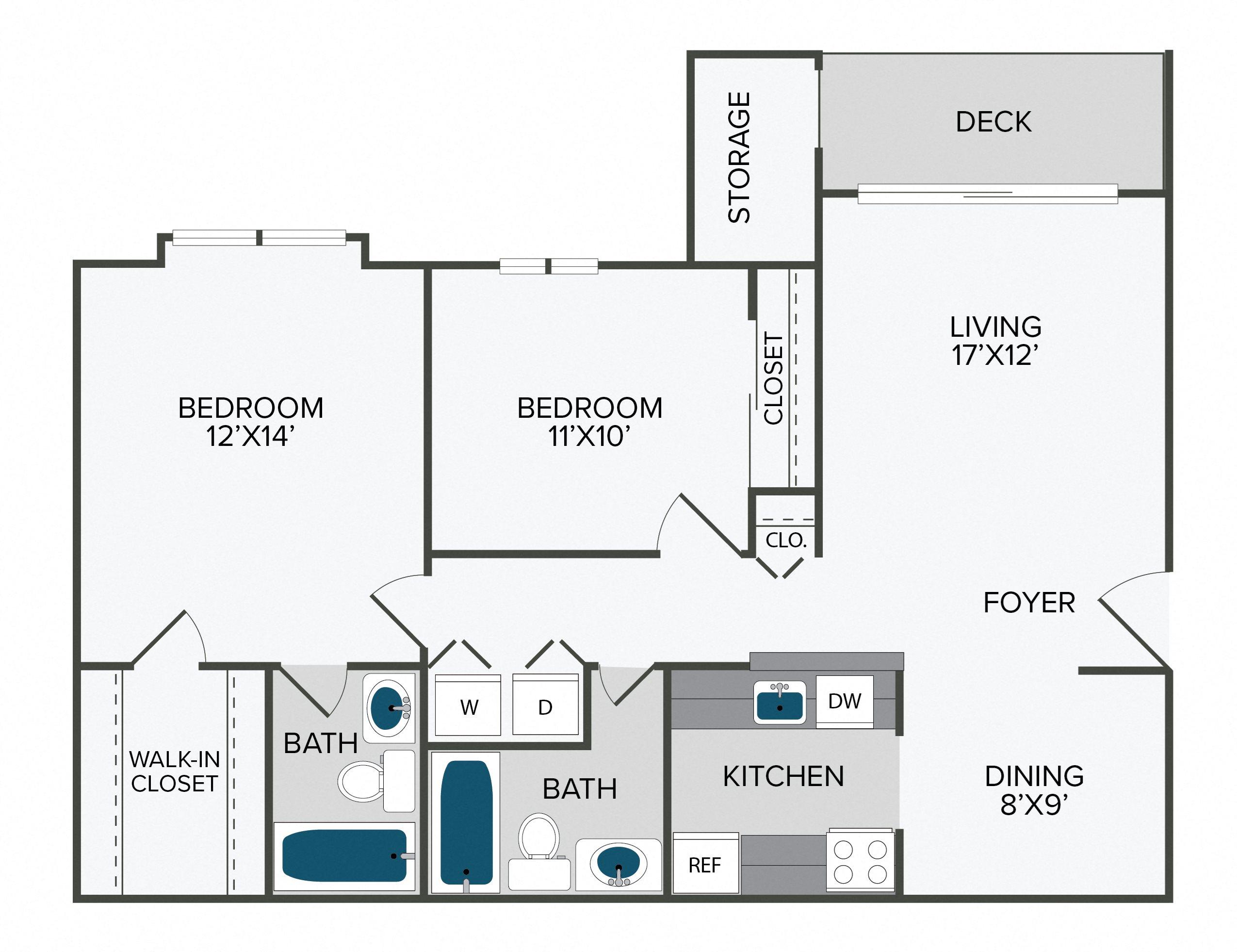 Beauregard Renovated (2TR) Floor Plan 3