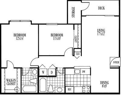Beauregard Floorplan at Ravens Crest Apartments