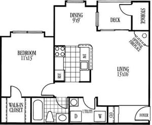 Drayton Floorplan at Ravens Crest Apartments