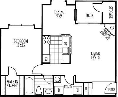 Drayton Renovated (1R) Floor Plan 2