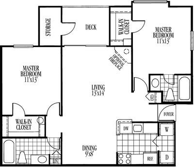 Jackson Floorplan at Ravens Crest Apartments