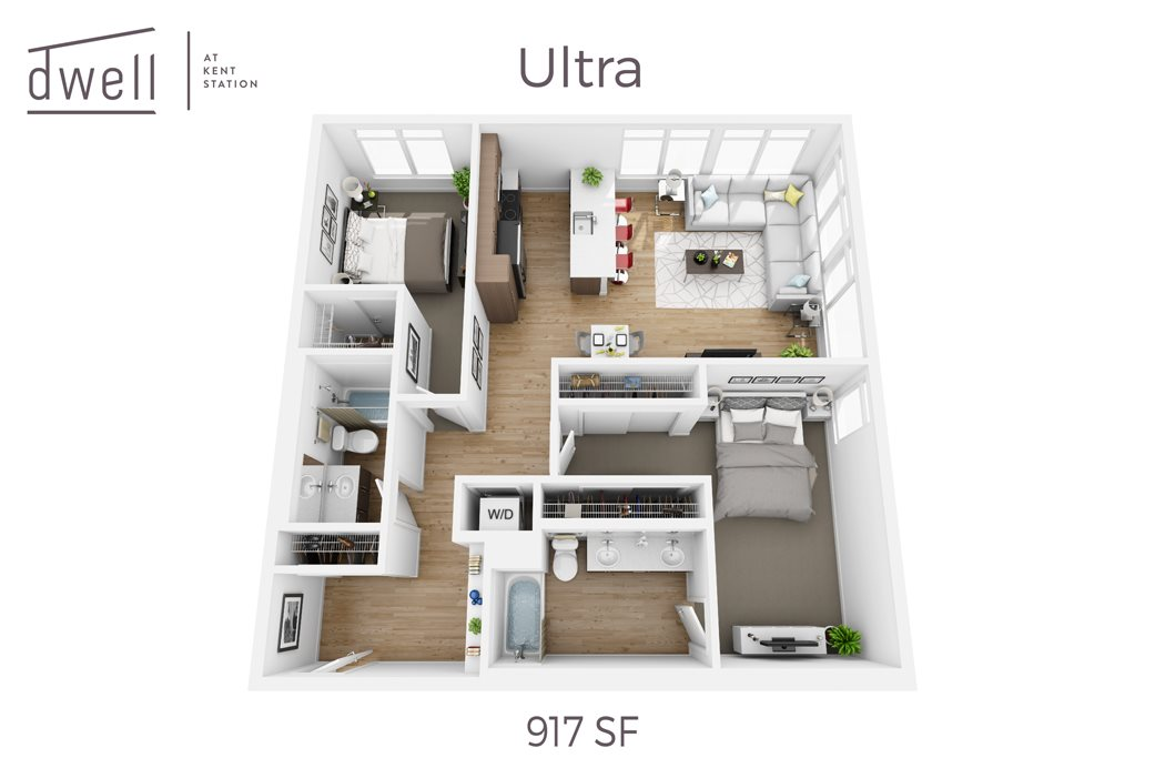 Ultra Two Bedroom Two Bath