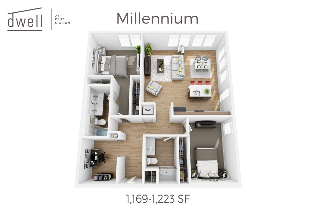 Millennium Two Bedroom Two Bath