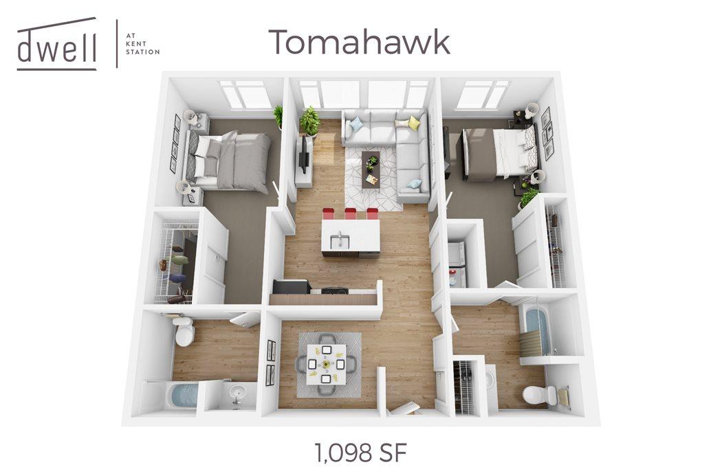 Tomahawk Two Bedroom Two Bath