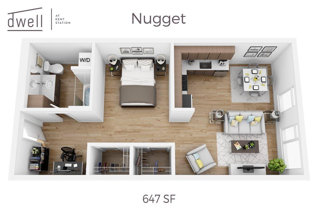 Nugget Open Floorplan Studio