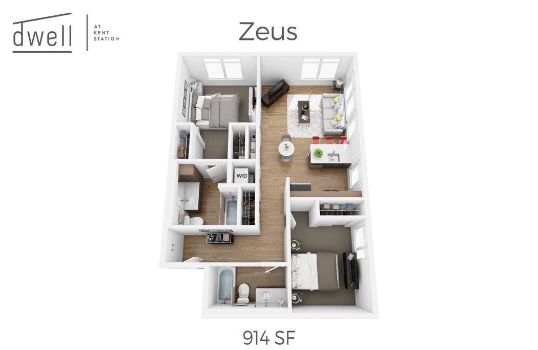 Zeus Two Bedroom Two Bath